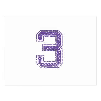 Purple Sports Jerzee Number 03.png Postcard