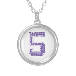Purple Sports Jerzee Number 05.png Pendant