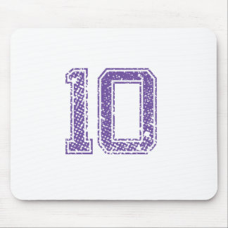 Purple Sports Jerzee Number 10.png Mouse Pad