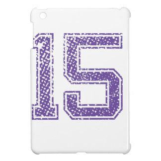 Purple Sports Jerzee Number 15.png iPad Mini Case