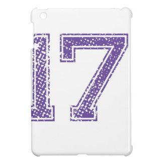 Purple Sports Jerzee Number 17.png iPad Mini Covers