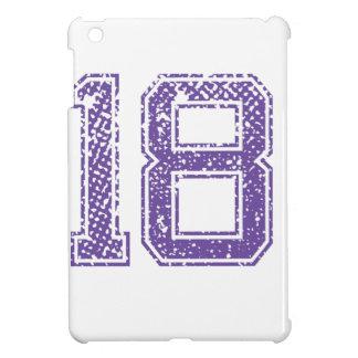 Purple Sports Jerzee Number 18.png iPad Mini Case