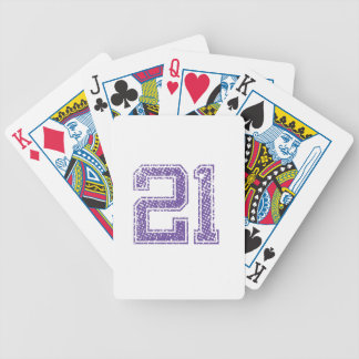 Purple Sports Jerzee Number 21.png Bicycle Playing Cards
