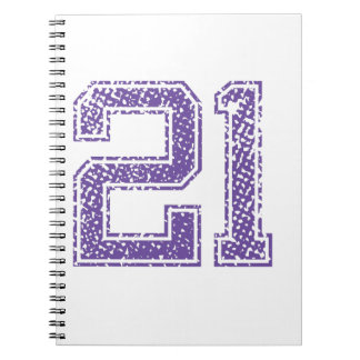 Purple Sports Jerzee Number 21.png Spiral Notebook