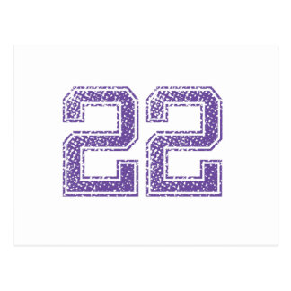 Purple Sports Jerzee Number 22.png Postcard