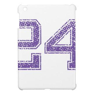 Purple Sports Jerzee Number 24.png iPad Mini Case