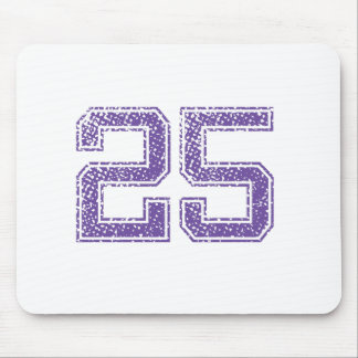 Purple Sports Jerzee Number 25.png Mouse Pad