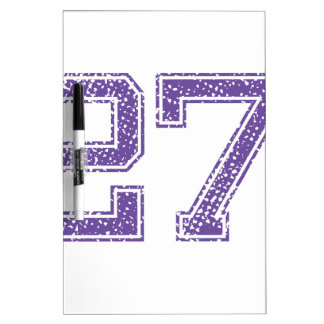 Purple Sports Jerzee Number 27.png Dry-Erase Board