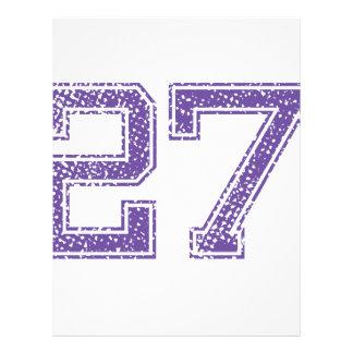 Purple Sports Jerzee Number 27.png Letterhead