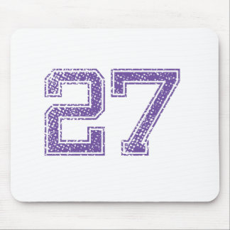 Purple Sports Jerzee Number 27.png Mouse Pad