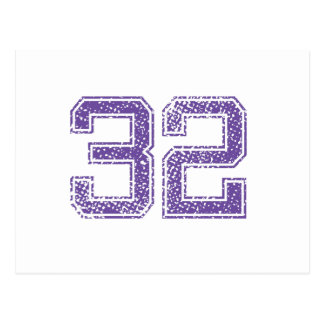 Purple Sports Jerzee Number 32.png Postcard