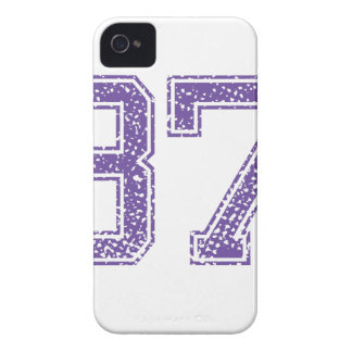 Purple Sports Jerzee Number 37.png iPhone 4 Case