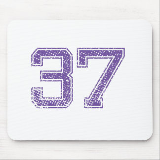 Purple Sports Jerzee Number 37.png Mouse Pad