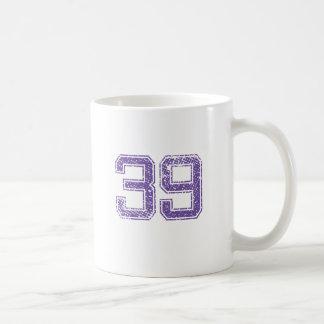 Purple Sports Jerzee Number 39.png Coffee Mug