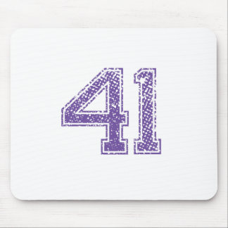 Purple Sports Jerzee Number 41.png Mouse Pad