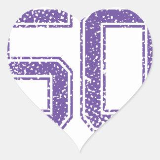 Purple Sports Jerzee Number 50.png Heart Sticker