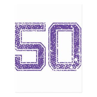 Purple Sports Jerzee Number 50.png Postcard