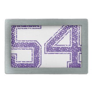 Purple Sports Jerzee Number 54.png Belt Buckle