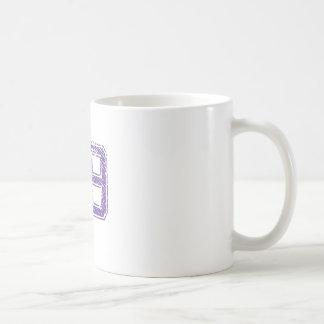 Purple Sports Jerzee Number 59.png Classic White Coffee Mug