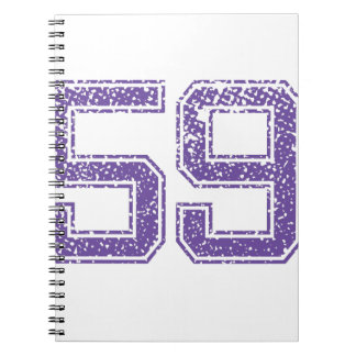 Purple Sports Jerzee Number 59.png Notebook
