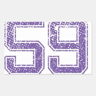 Purple Sports Jerzee Number 59.png Rectangular Sticker