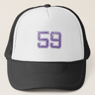 Purple Sports Jerzee Number 59.png Trucker Hat