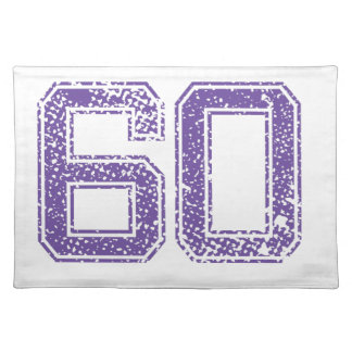 Purple Sports Jerzee Number 60.png Cloth Place Mat