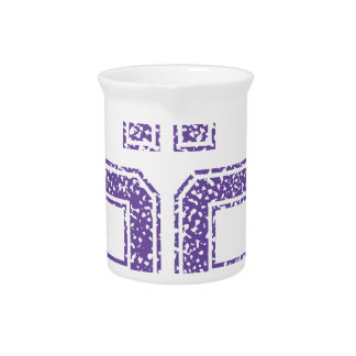 Purple Sports Jerzee Number 62.png Drink Pitchers