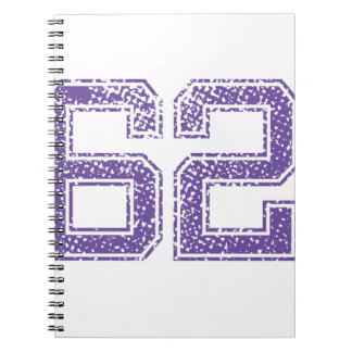 Purple Sports Jerzee Number 62.png Notebook