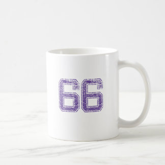Purple Sports Jerzee Number 66.png Coffee Mug