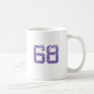 Purple Sports Jerzee Number 68.png Coffee Mug