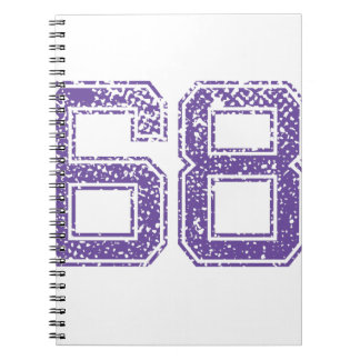 Purple Sports Jerzee Number 68.png Spiral Notebook