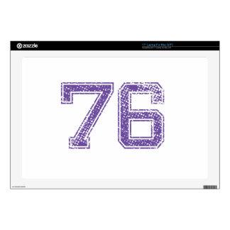 "Purple Sports Jerzee Number 76.png 17"" Laptop Skins"