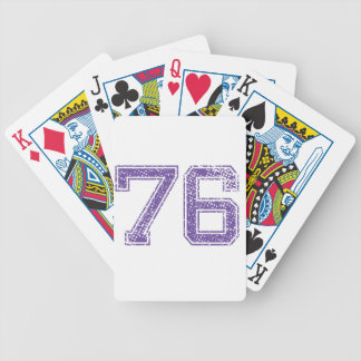 Purple Sports Jerzee Number 76.png Bicycle Playing Cards