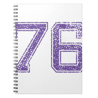 Purple Sports Jerzee Number 76.png Notebook