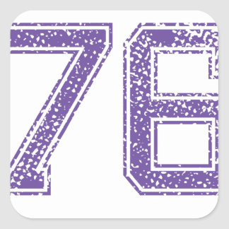 Purple Sports Jerzee Number 76.png Square Sticker