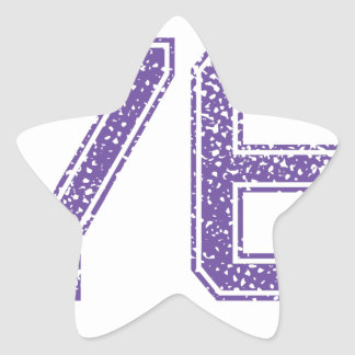 Purple Sports Jerzee Number 76.png Star Sticker