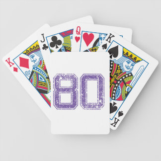 Purple Sports Jerzee Number 80.png Bicycle Playing Cards