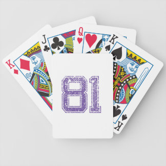 Purple Sports Jerzee Number 81.png Bicycle Playing Cards