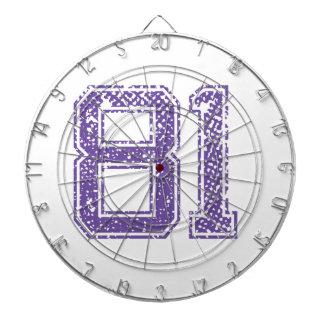 Purple Sports Jerzee Number 81.png Dart Boards