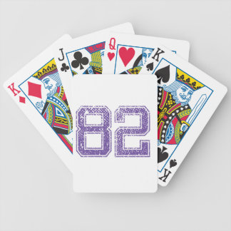 Purple Sports Jerzee Number 82.png Bicycle Playing Cards