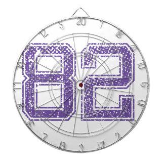 Purple Sports Jerzee Number 82.png Dart Boards