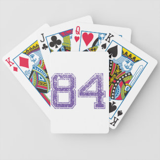 Purple Sports Jerzee Number 84.png Bicycle Playing Cards