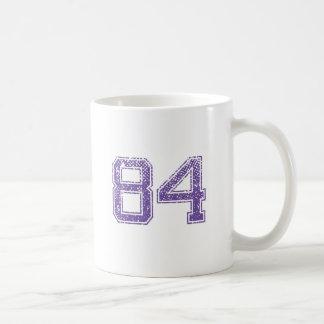 Purple Sports Jerzee Number 84.png Coffee Mug