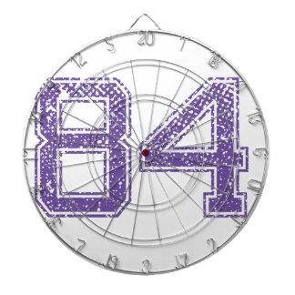 Purple Sports Jerzee Number 84.png Dart Board