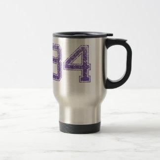 Purple Sports Jerzee Number 84.png Travel Mug