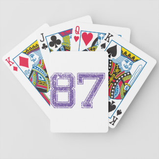 Purple Sports Jerzee Number 87.png Bicycle Playing Cards