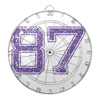 Purple Sports Jerzee Number 87.png Dart Board