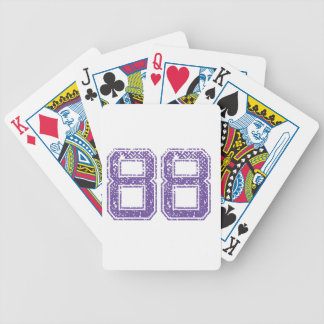 Purple Sports Jerzee Number 88.png Bicycle Playing Cards