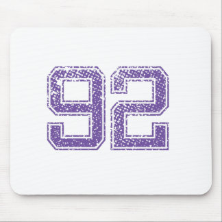 Purple Sports Jerzee Number 92.png Mouse Pad